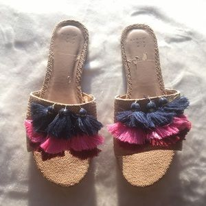 a new day Shoes - Colorful Tassel Slides